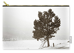 Carry-all Pouch featuring the photograph Lone Tree by Marilyn Hunt