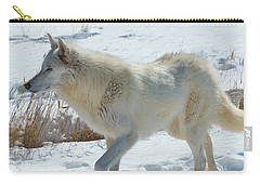 Lone White Wolf Carry-all Pouch