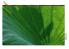Carry-all Pouch featuring the photograph Lotus Leaf 2017 3 by Buddy Scott