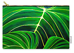Lovely Greens Carry-all Pouch by Debbie Chamberlin