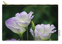 Carry-all Pouch featuring the photograph Lovely Lisianthus by Byron Varvarigos