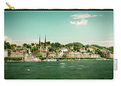 Carry-all Pouch featuring the photograph Lucerne Panorama by Wolfgang Vogt