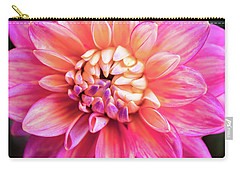 Carry-all Pouch featuring the photograph Magenta Dahlia by Louise Lindsay