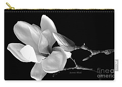 Magnolia In Monochrome Carry-all Pouch