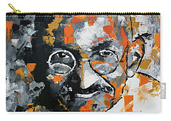 Carry-all Pouch featuring the painting Mahatma Gandhi by Richard Day