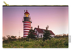 Maine West Quoddy Head Lighthouse Sunset Carry-all Pouch
