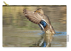 Mallard Duck Female Carry-all Pouch by Tam Ryan