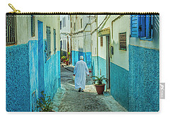 Man In White Djellaba Walking In Medina Of Rabat Carry-all Pouch by Patricia Hofmeester