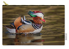 Carry-all Pouch featuring the photograph Mandarin Duck  by Susan Candelario