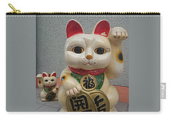A Figure Of A Beckoning Cat, Called 'manekineko' Carry-all Pouch