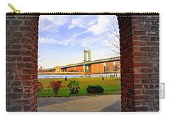 Manhattan Bridge Framed Carry-all Pouch by Mark Gilman