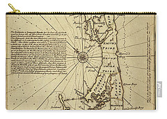 Map Of Bermuda 1750 Carry-all Pouch by Andrew Fare
