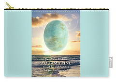 March Birthstone Aquamarine Carry-all Pouch