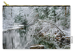 Carry-all Pouch featuring the photograph March Snow Cranberry River by Thomas R Fletcher