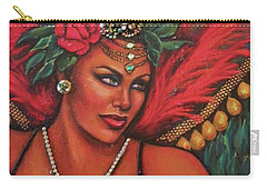 Carry-all Pouch featuring the painting Mardi Gras by Alga Washington