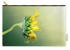 Carry-all Pouch featuring the photograph Maria's Sunflower by Mary Timman
