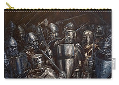Carry-all Pouch featuring the painting Medieval Battle by Arturas Slapsys