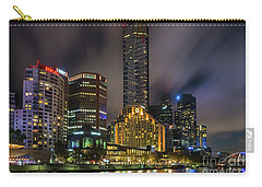 Melbourne City Skyline Over Yarra River  Carry-all Pouch