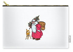Carry-all Pouch featuring the painting Merry Christmas. by Andrzej Szczerski