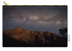 Milky Way Galaxy Over Zion Canyon Carry-all Pouch