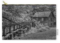 Carry-all Pouch featuring the photograph Mingus Mill 3 Mingus Creek Great Smoky Mountains Art by Reid Callaway