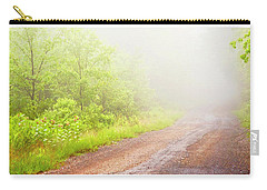 Misty Back Road, Pocono Mountains, Pennsylvania Carry-all Pouch