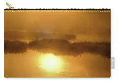 Carry-all Pouch featuring the photograph Misty Gold by Tatsuya Atarashi