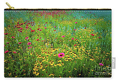 Carry-all Pouch featuring the photograph Mixed Wildflowers In Bloom by D Davila