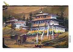 Monastery In Himalaya Mountain Carry-all Pouch