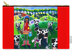 Moo Cow Farm Carry-all Pouch by Jackie Carpenter