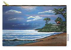 Moonlight In Rincon II Carry-all Pouch by Luis F Rodriguez