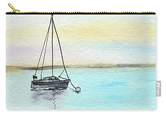Moored Sailboat Carry-all Pouch by R Kyllo