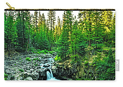 Morning At The Falls Carry-all Pouch by Nancy Marie Ricketts