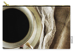 Carry-all Pouch featuring the photograph Morning Coffee by Bonnie Bruno