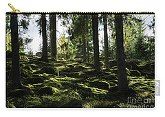 Carry-all Pouch featuring the photograph Mossy Rocks by Kennerth and Birgitta Kullman