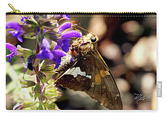 Moth On Purple Flower Carry-all Pouch