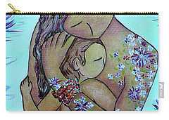 Motherhood Flowers All Over Carry-all Pouch