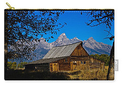Carry-all Pouch featuring the photograph Moulton Barn by Norman Hall