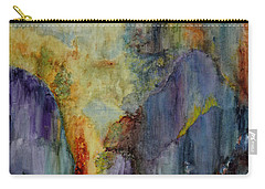 Carry-all Pouch featuring the painting Mountain Scene by Karen Fleschler