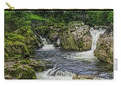Mountain Waterfall Carry-all Pouch by Ian Mitchell