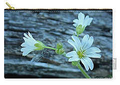 Carry-all Pouch featuring the photograph Mouse-eared Chickweed by Ann E Robson