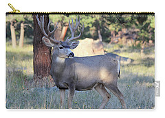 Carry-all Pouch featuring the photograph Muley Buck by Shane Bechler
