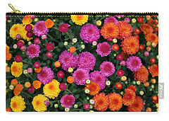 Carry-all Pouch featuring the photograph Multi Colored Mums by Living Color Photography Lorraine Lynch