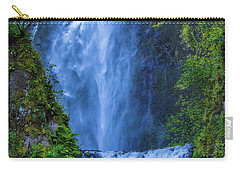 Carry-all Pouch featuring the photograph Multnomah Falls Bridge by Jonny D