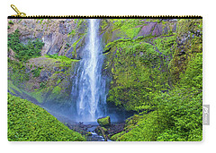 Carry-all Pouch featuring the photograph Multnomah Falls by Jonny D