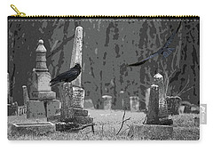 Carry-all Pouch featuring the photograph Murder Of Crows by Rowana Ray