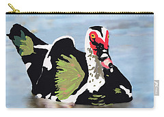 Carry-all Pouch featuring the painting Muscovie Duck by Rosalie Scanlon