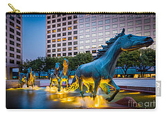 Mustangs At Las Colinas Carry-all Pouch by Inge Johnsson