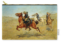 Carry-all Pouch featuring the painting My Bunkie by Charles Schreyvogel