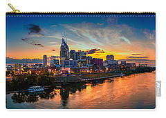 Nashville Skyline Panorama Carry-all Pouch by Brett Engle